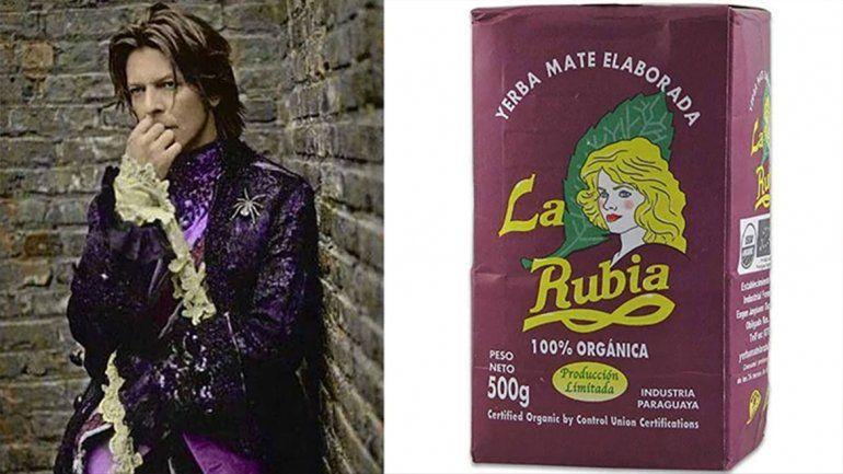Desopilante y genial: un fan de David Bowie comparó sus looks con distintos paquetes de yerba mate