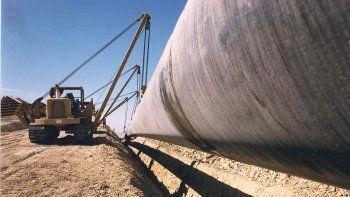 cortan la ruta 151 por obras en un gasoducto