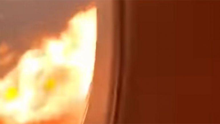 Escalofriante video: así vivieron desde adentro los pasajeros el incendio del avión ruso