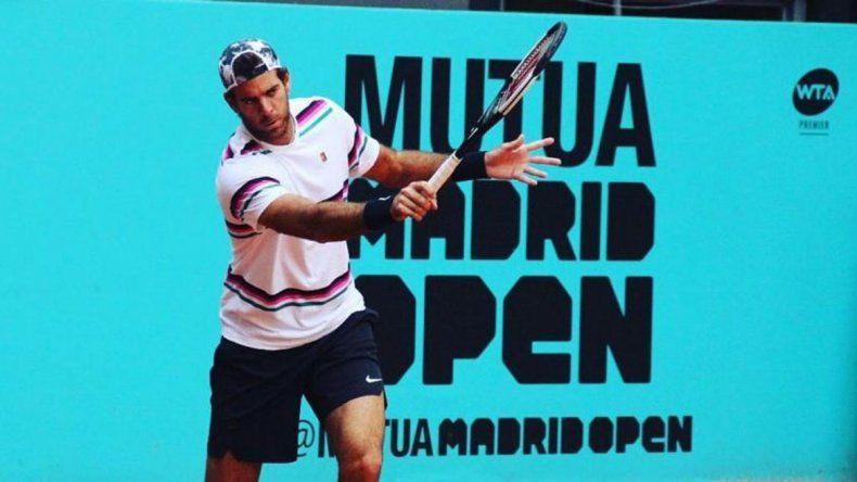 Del Potro se prueba mañana en el dobles y si responde jugará el singles en Madrid