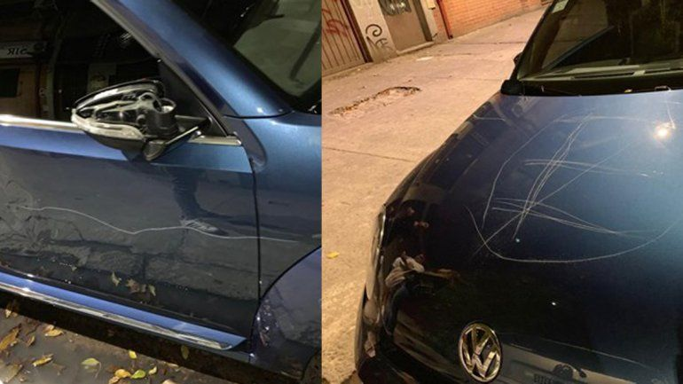 Noche de furia: destrozó un auto que tapaba la entrada de su garage