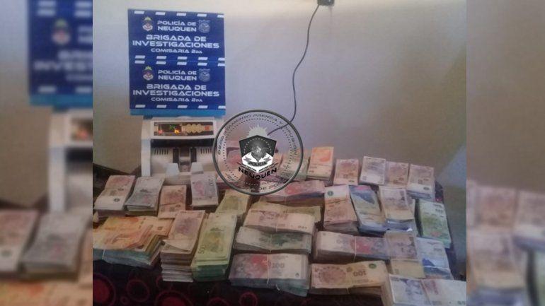 Millonario allanamiento: hallaron más de $1.800.000 en un kiosco narco