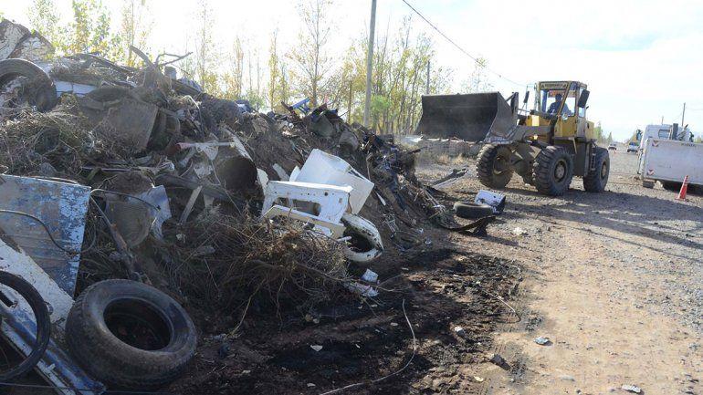 Sacan residuos voluminosos de cuatro barrios