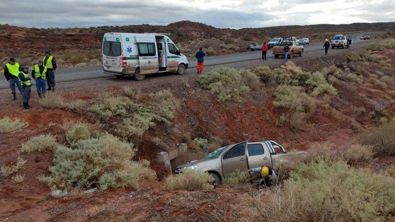 Dos vuelcos cerca de Añelo: una conductora se salvó de milagro