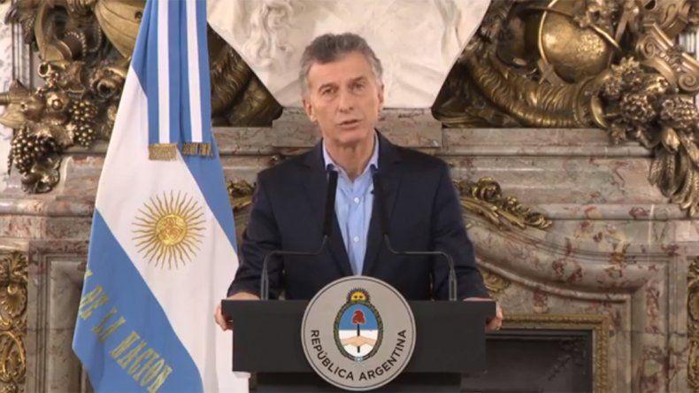 Macri: Nuestra cadena nacional son las cosas verdaderas
