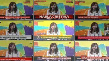 ¿volvio la cadena nacional?: cristina copo la teve y tuvo picos de rating