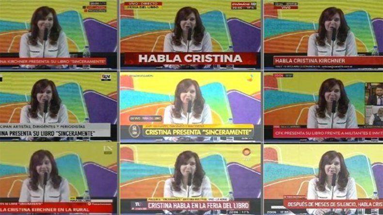 ¿Volvió la cadena nacional?: Cristina copó la tevé y tuvo picos de rating