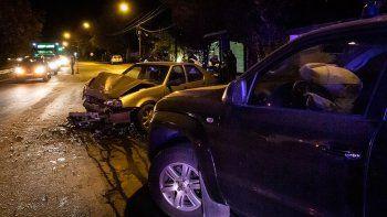 san martin: tres heridos en violento choque en cuesta de los andes