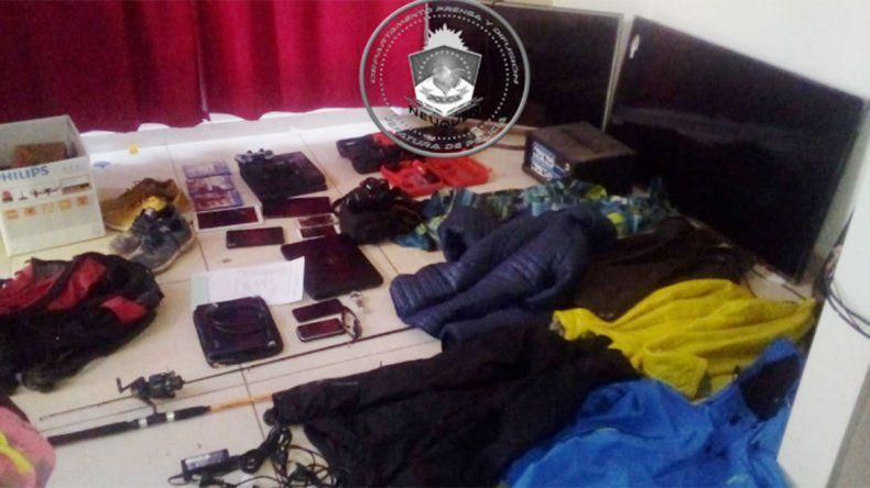 Tras varios allanamientos, esclarecieron robos a dos casas en Plottier