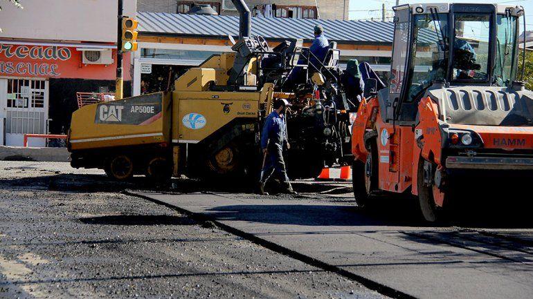 Repavimentaron la calle Sarmiento para el Metrobús