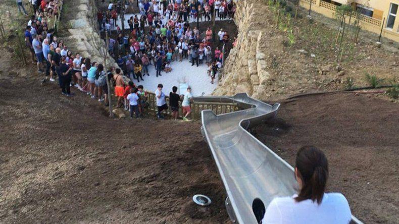 Clausuran el tobogán más alto de Europa por caídas y heridos