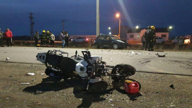 Reconocido empresario se mató al chocar en la moto