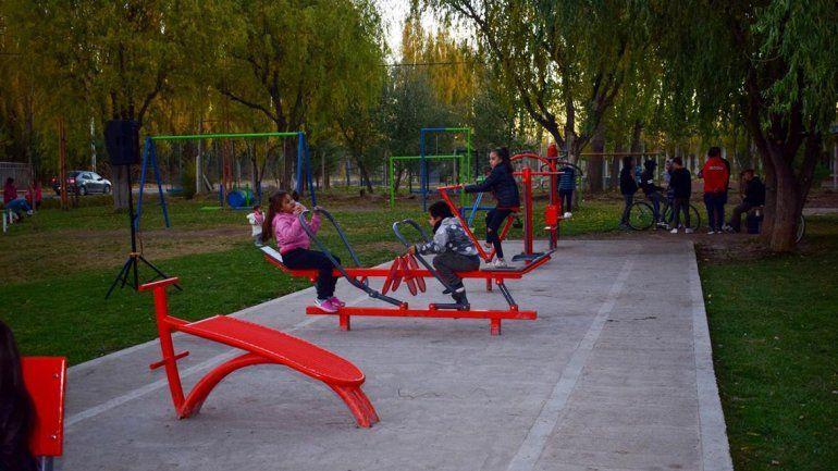 Plottier inauguró una nueva pista de salud en un barrio