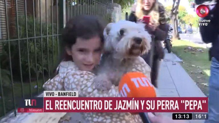 Final feliz: en el día de su cumpleaños, Jazmín encontró a su perra Pepa
