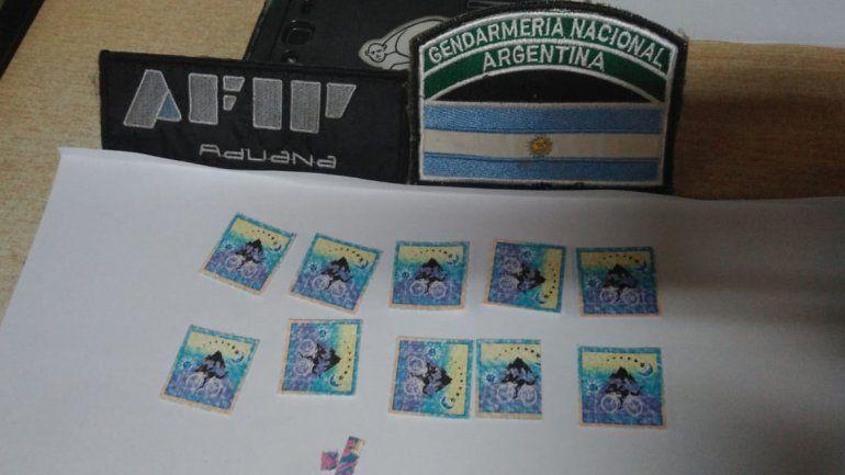 Detuvieron en el paso Cardenal Samoré a dos hombres que viajaban con 250 dosis de LSD