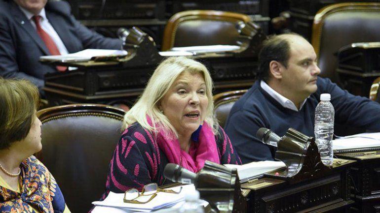 Elisa Carrió anduvo a los insultos en el Congreso