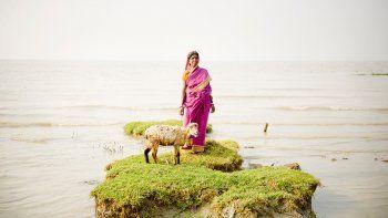 una isla de la india esta por quedar tapada por el agua