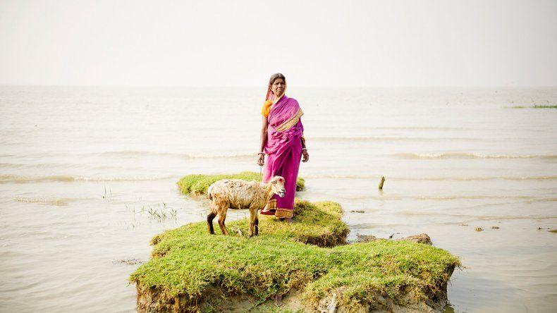 Una isla de la India está por quedar tapada por el agua