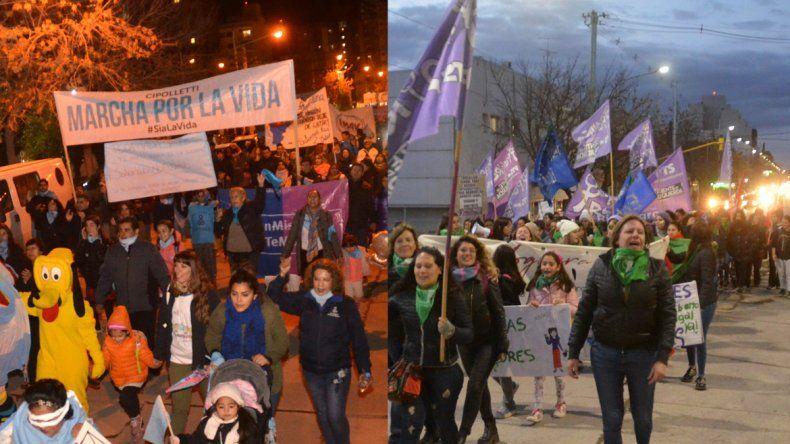 A horas de la sentencia hubo marchas en contra y a favor de Rodríguez Lastra