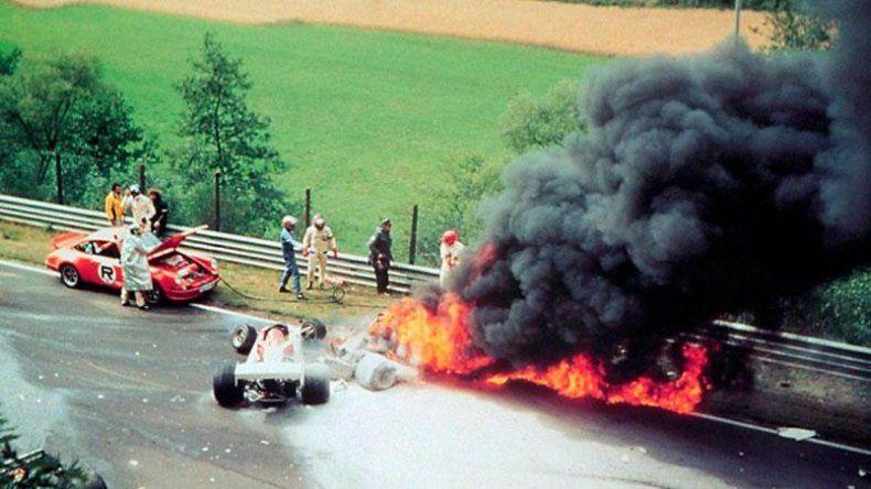 Lauda: el accidente que le cambió la vida