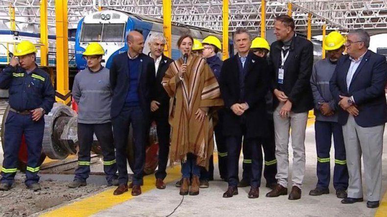 Fábrica de trenes: Vidal elogió al gobierno nacional