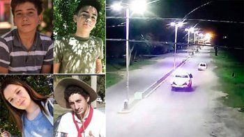 cuatro jovenes murieron en una confusa persecucion