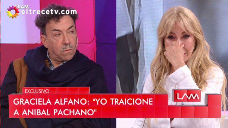 Tremendo: Graciela Alfano quebró en llanto y admitió que traicionó a Pachano