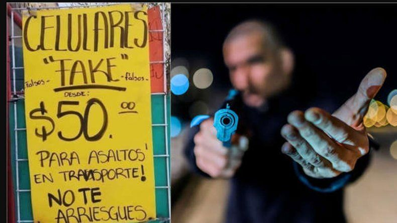 México: ya compran celulares truchos para dárselos a los ladrones