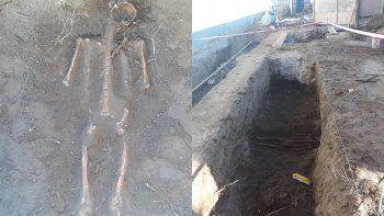 hallan un esqueleto en una obra y creen que alli habia un cementerio
