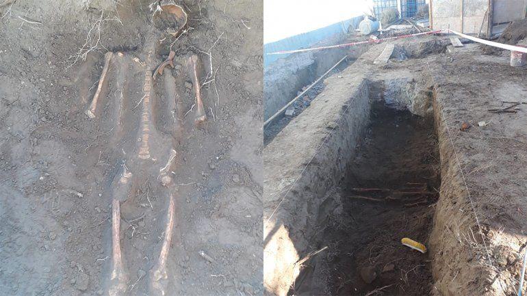 Encuentran un esqueleto en una obra y sospechan que había un antiguo cementerio