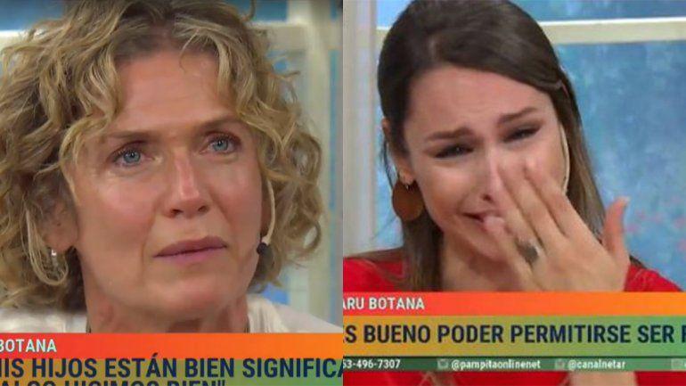 Las lágrimas de Pampita y Maru Botana al recordar a sus hijos fallecidos