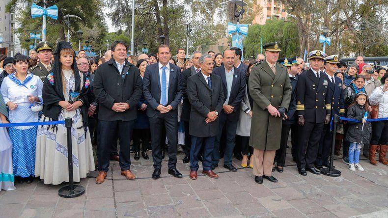 Pechi Quiroga y Omar Gutiérrez llamaron a la unidad en el acto del 25 de Mayo