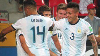 argentina goleo a sudafrica en el debut del mundial sub-20