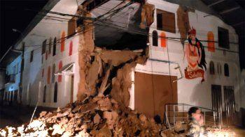 un fuerte sismo de magnitud 7,5 se sintio en peru, colombia y ecuador