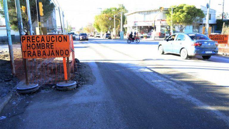 Por una obra en calle San Martín desvían cuatro líneas de colectivos