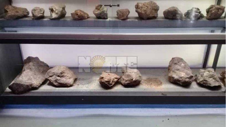 Encapuchados se robaron tres meteoritos de un parque chaqueño