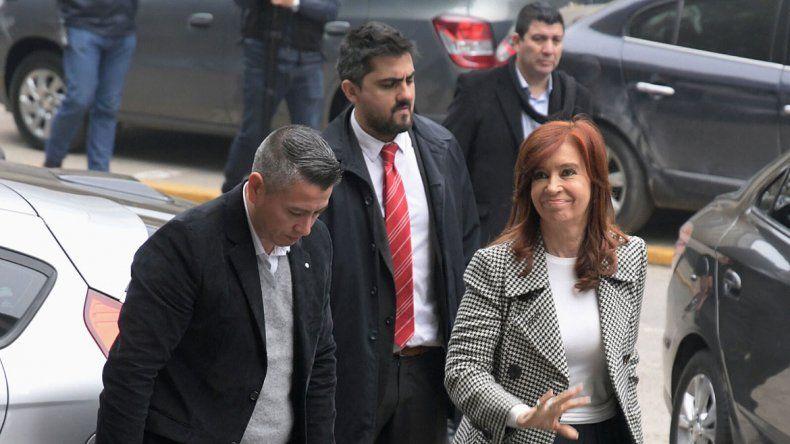 Finalmente, Cristina presenció la segunda audiencia del juicio por la obra pública