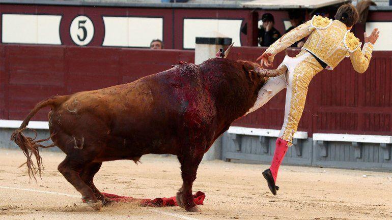 La venganza del toro fue terrible: lo hizo volar de una cornada