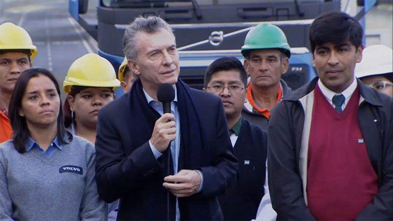 Es orgásmico, el extraño mensaje que compartió Macri tras inaugurar una obra
