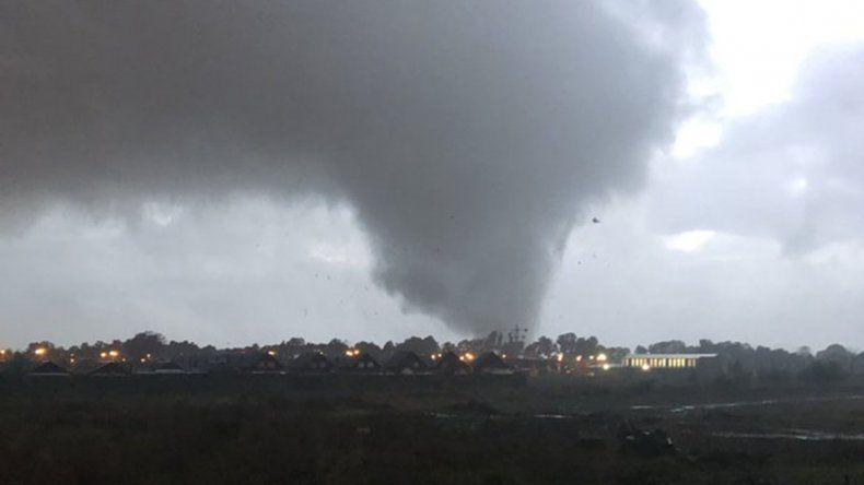 Un tornado puso en jaque a una localidad chilena próxima al norte neuquino