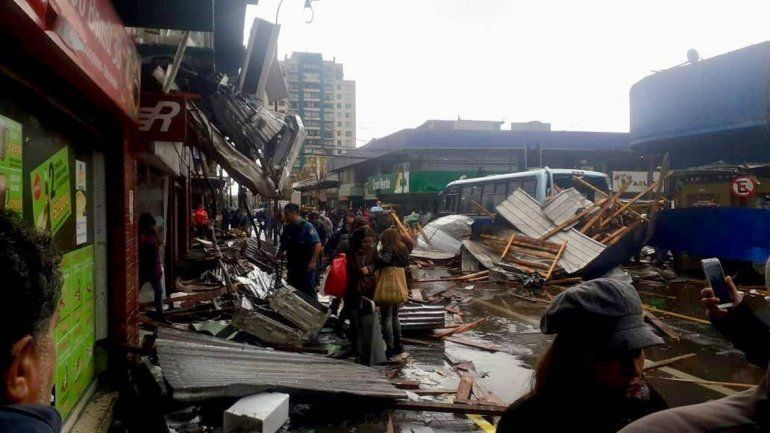 Otro tornado sacudió la región chilena del Bio Bio: un muerto y 8 heridos