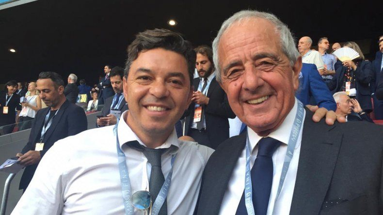 Gallardo y DOnofrio vieron la final de la Champions League y buscan arquero