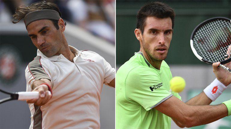 Federer fue más y acabó con el sueño de Leo Mayer en Roland Garros