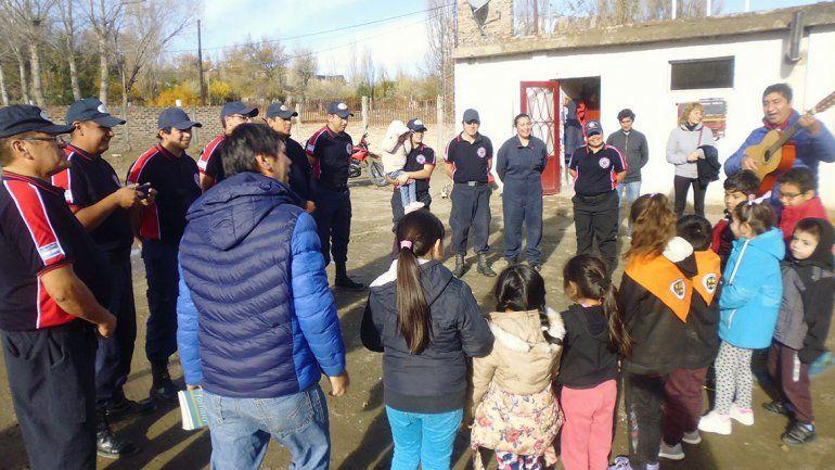 Mariano Moreno: los bomberos voluntarios festejaron su gran día