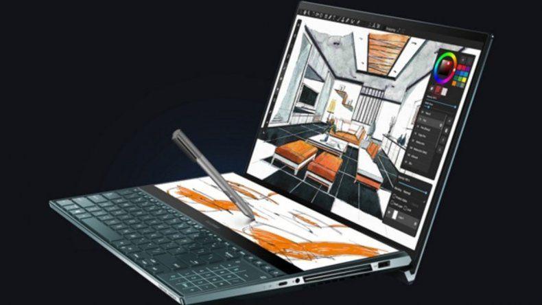 ASUS muestra su extravagante laptop con dos pantallas de alta resolución