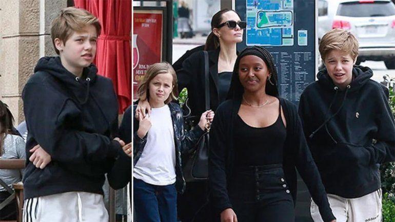 Las primeras fotos del hijo trans de Jolie y Pitt tras iniciar su cambio de género