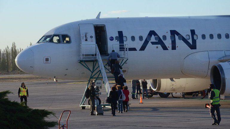 Latam levanta en octubre la ruta Neuquén-Santiago