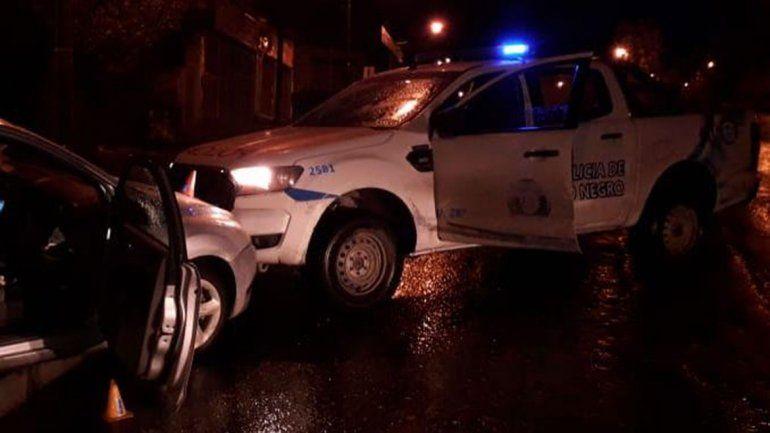 Quisieron escapar de la poli y chocaron contra un patrullero: tres detenidos