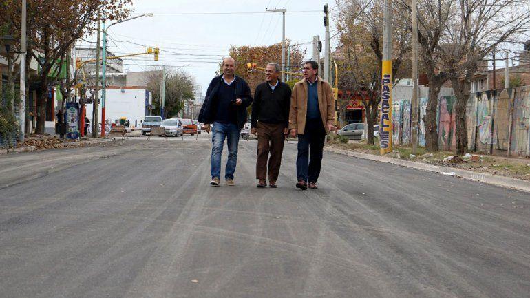 El pavimento de la San Martín, listo la semana que viene
