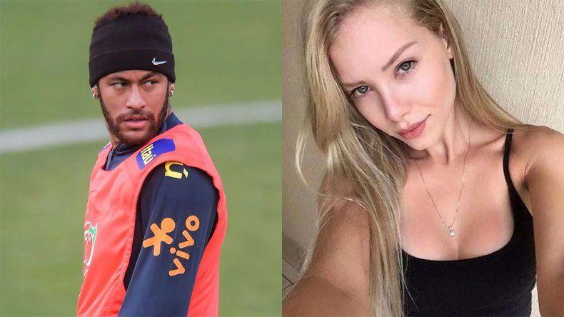 Se filtró un polémico chat entre la modelo que acusa de violación a Neymar y su abogado